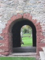 Round arch doorway from the south